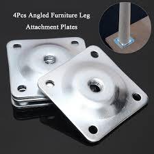 table leg mounting hardware 4pcs level leg mounting plates square furniture attachment fixing