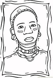 african woman coloring free africa coloring pages