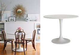tulip table knock off tulip table knockoff bungalow home staging redesign within ikea