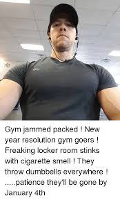 New Years Gym Meme - teii gym jammed packed new year resolution gym goers freaking