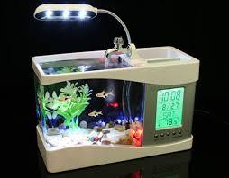 aquarium bureau usb bureau aquarium met pennenhouder gogo gadgets