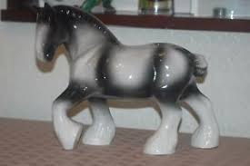 ceramic shire cob ornament may suit wagon model or