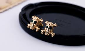 skull stud earrings cool gold tone small skull stud earrings wholesale yiwuproducts