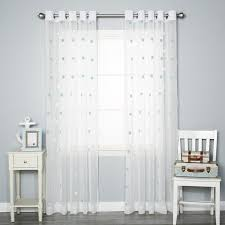 White Polka Dot Sheer Curtains Best Home Fashion Inc Pom Polka Dots Sheer Grommet Curtain