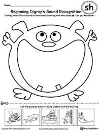 beginning digraph sound recognition th teaching worksheets and