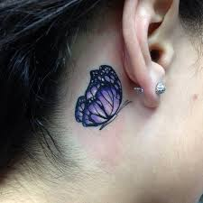 ear purple butterfly for gils tattooshunt com