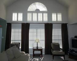 Simple Window Treatments For Large Windows Ideas Large Window Curtain Ideas Craftmine Co