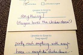 wedding song request cards requesting songs on the rsvp card 7 ideas for your song