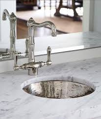 Bar Sinks And Faucets Round Hammered Metal Bar Sink With Vintage Faucet Transitional