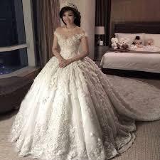 Wedding Dress Online Shop Vestido De Noiva Off The Shoulder 3d Flower Ball Gowns Lace