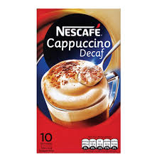 cappuccino nescafe cappuccino decaffinated 10 x 15g lowest prices