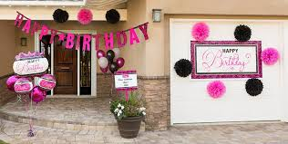 Party City Balloons For Baby Shower - black u0026 pink birthday party supplies party city