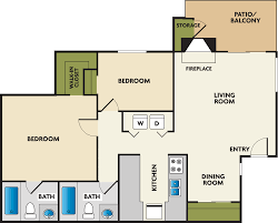 Studio Plan by Studio 1 2 U0026 3 Bedroom Apartments In Tukwila Wa Floor Plans