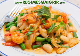cuisiner haricots beurre crevettes sautées au paprika et haricots verts et haricots beurre