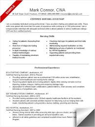 resume for cna exles cna resume sle resume exles