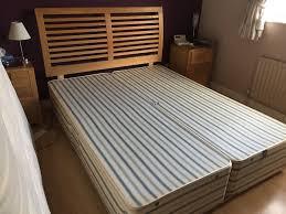 Oak Bedroom Furniture John Lewis Kingsize John Lewis Oak Headboard And Divan Base With Drawer