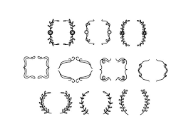 free ornamental bracket vector free vector stock
