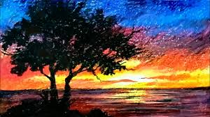 oil pastel drawing of nature for beginners easy drawing tutorials landscape drawing