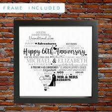 60th wedding anniversary gift 60th anniversary gift 60 years married or any year gift for