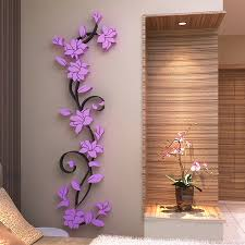 art home decor 3d vase tree love heart crystal arcylic wall stickers decal home