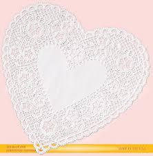 heart doilies white heart lace paper doilies 6 royal lace 75147
