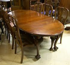 3600 90 english mahogany chippendale dining table