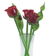 Red Flowers In A Vase Glass Flowers Roses Kremp Com
