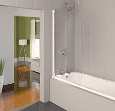 aqualux white aqua 4 clear glass oval bath shower screen 1400 x