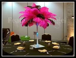 Feather Vase Centerpieces by Sweet 16 Feather Centerpieces Feathers By Angel U0027s Blog