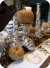 Thanksgiving Table Centerpieces by Make Diy Metallic Thanksgiving Table Decor Tutorial
