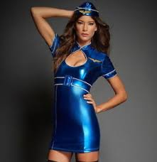 Halloween Flight Attendant Costume Air Hostess Hottie Stewardess Flight Attendant Halloween