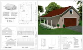 Floor Plan With Elevation by 18 Free Diy Garage Plans With Detailed Drawings And Instructions