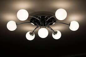 contemporary square double glass semi flush ceiling light fixture