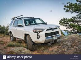 suv toyota 4runner toyota 4runner suv 2016 trail edition on a rocky trail in stock