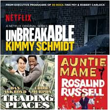 what do kimmy schmidt trading places u0026 auntie mame have in