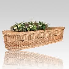 wicker casket green burial caskets