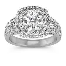 double engagement rings images Double halo multi size round diamond engagement ring shane co jpg