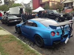 nissan sports car blue tuned nissan gt r in new the fast u0026 the furious 6 movie gtr