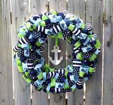 whale ribbon just bought this whale ribbon wreath for the nursery by