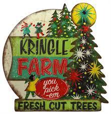 kringle tree farm tin sign traditions