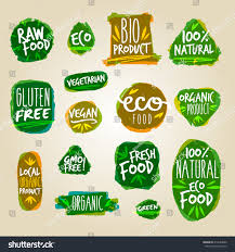 labels vegetarian raw food diet designs stock vector 416543086