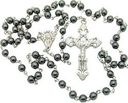 hematite rosary black hematite rosary great for boys communion