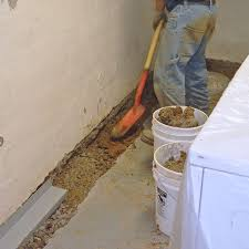 amusing how to install french drain in basement floor installing