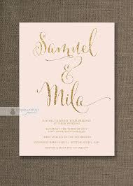 blush and gold wedding invitations blush pink gold wedding invitation gold glitter modern