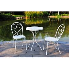 small patio table with two chairs mainstays 3 piece small space scroll outdoor bistro set seats 2
