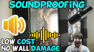 how to soundproof your walls with no damage for low cost youtube