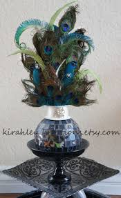 Peacock Feather Centerpieces by 13 Best Peacock Arrangements Images On Pinterest Peacock