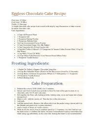 eggless chocolate cake recipe cakes chocolate