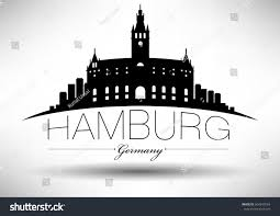 logo design hamburg vector graphic design hamburg city skyline stock vector 504290554