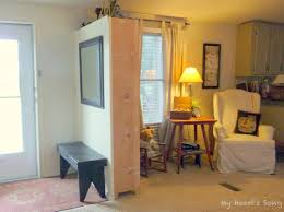 mobile home interior trim use of a book shelf to create entryway just add backing and trim